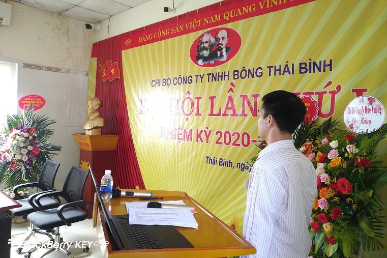 Đại hội chi bộ Đảng - Công ty TNHH Bông Thái Bình lần thứ I nhiệm kỳ 2020-2025