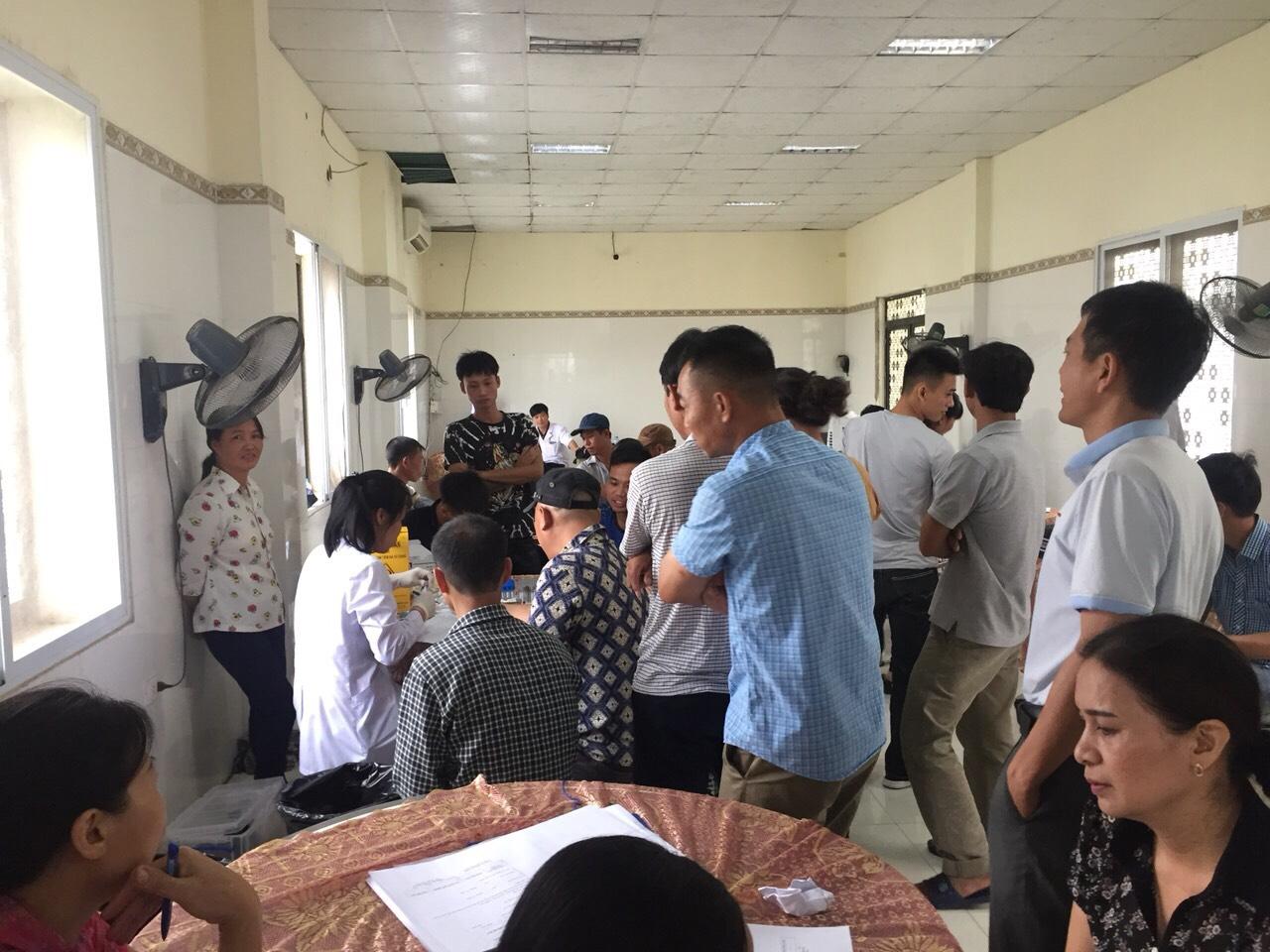 Công ty TNHH Bông Thái Bình tổ chức khám bệnh định kỳ cho CBCNV năm 2019